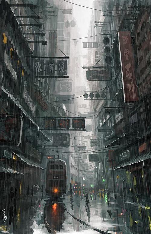 Hong Kong Art by Wang Ling / Hong Kong, China | via Facebook http://www.hongkongbuzz.com/