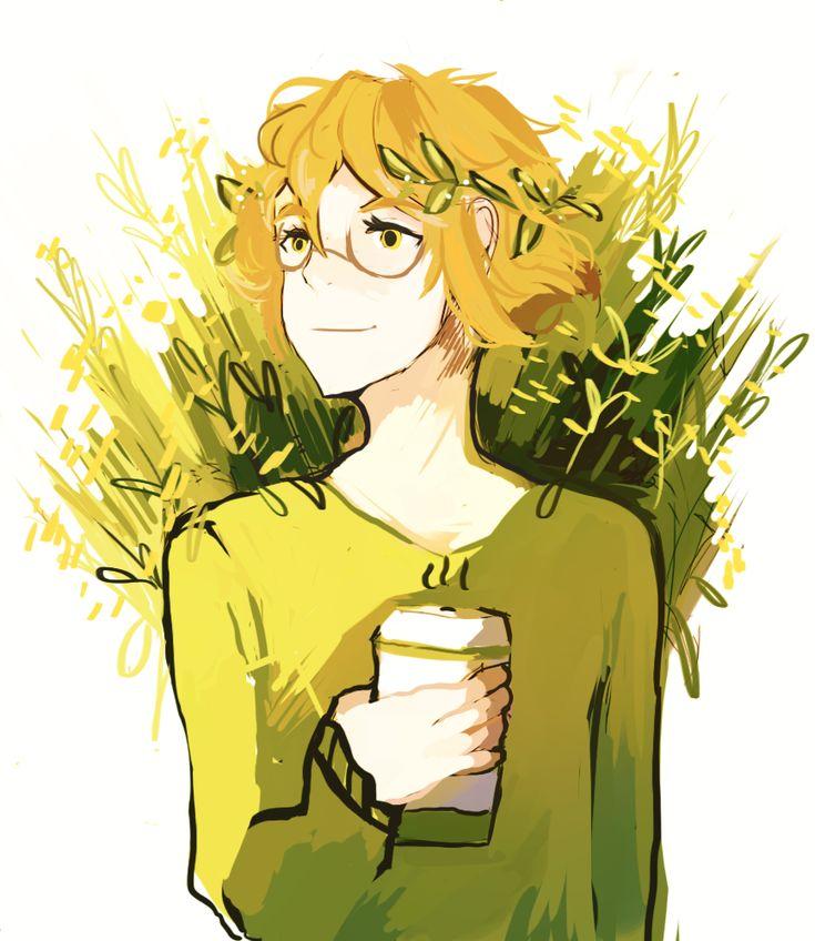yellow wildflowers & pidge.