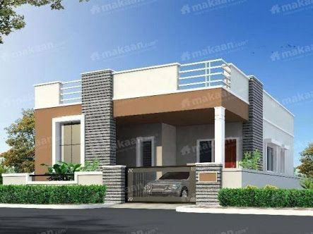 191 best house elevation indian single images on pinterest for Individual house front elevation