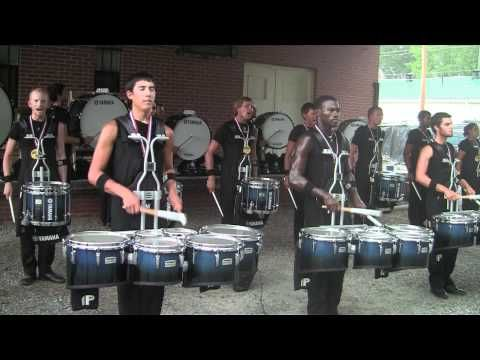 2011 bluecoats. beautiful bass break and ridiculous snare heights.