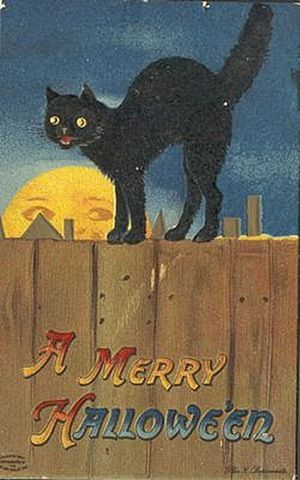 Vintage Cards Free | Click the vintage Halloween black cats below to view and download the ...