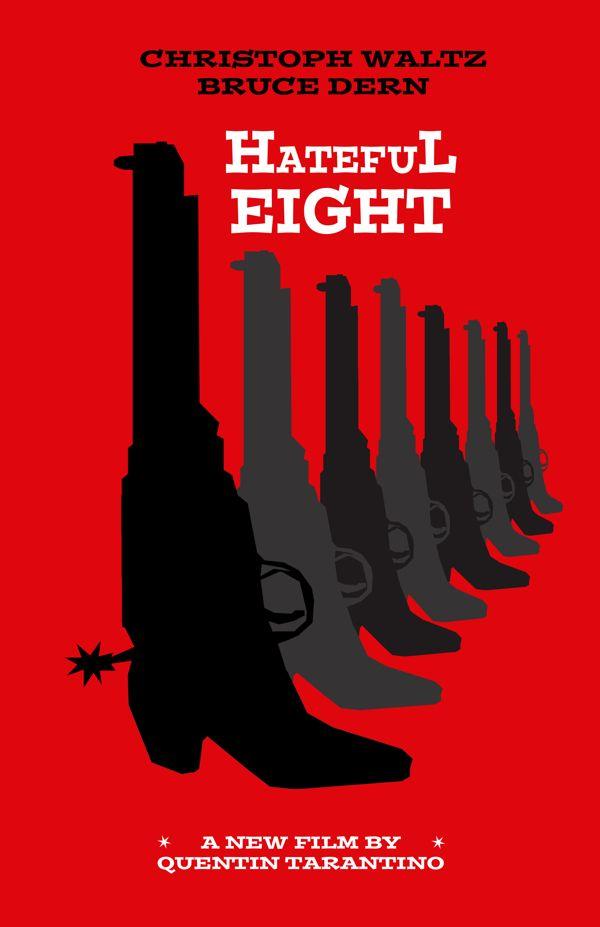 The Hateful Eight (2015) ~ Minimal Movie Poster by Joe Fries #amusementphile