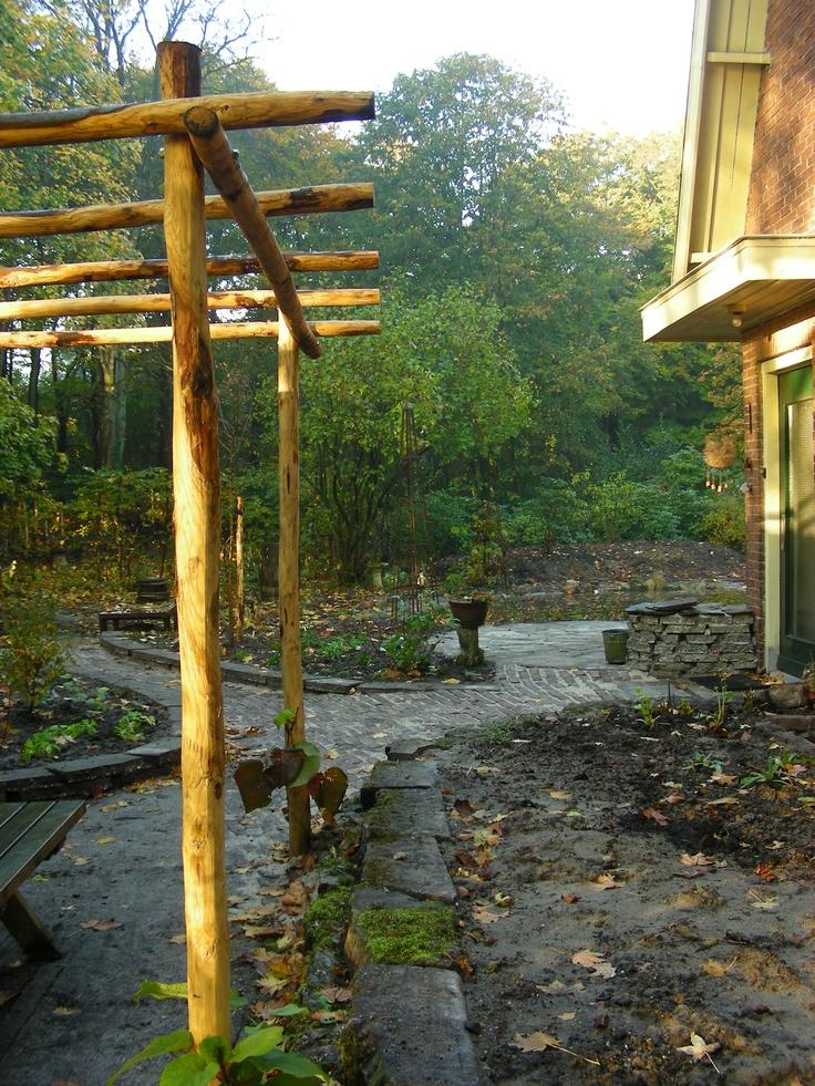 Pergola van kastanjehout idee n voor de tuin pinterest pergolas and van - Bedekking voor pergola ...