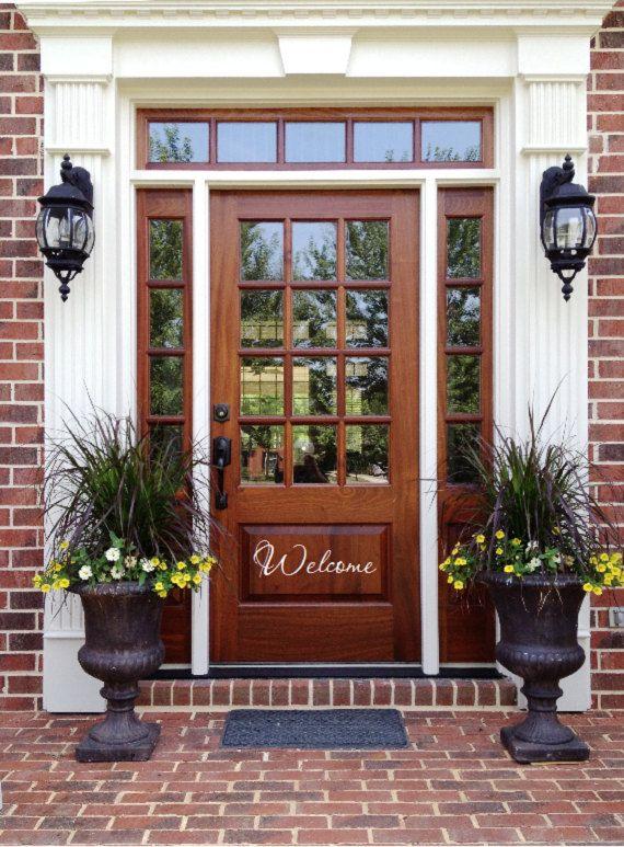 Open Front Door Welcome 159 best front door images on pinterest   house numbers, doors and