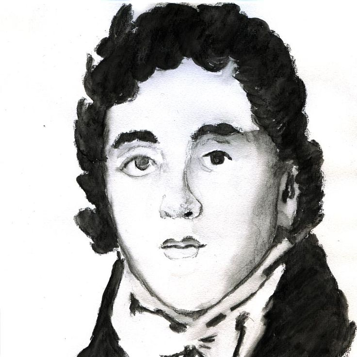 """George Bryan """"Beau"""" Brummell ( 1778-1840) Eton and Oxford (briefly); His personal habits, such as a fastidious attention to cleaning his teeth, shaving, and daily bathing exerted an influence on the upper echelons of polite society, who began to do likewise."""