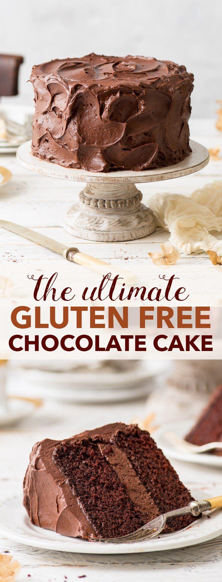 Le gâteau au chocolat ultime sans gluten (I OUBLIÉ LE CHOC !!! UTILISÉ PETITE ALLERG …   – Cake and desert