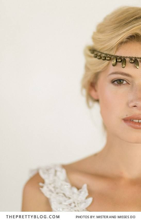 Earthy make up with bold bohemian headpiece | Photograph by Mister and Misses DO |