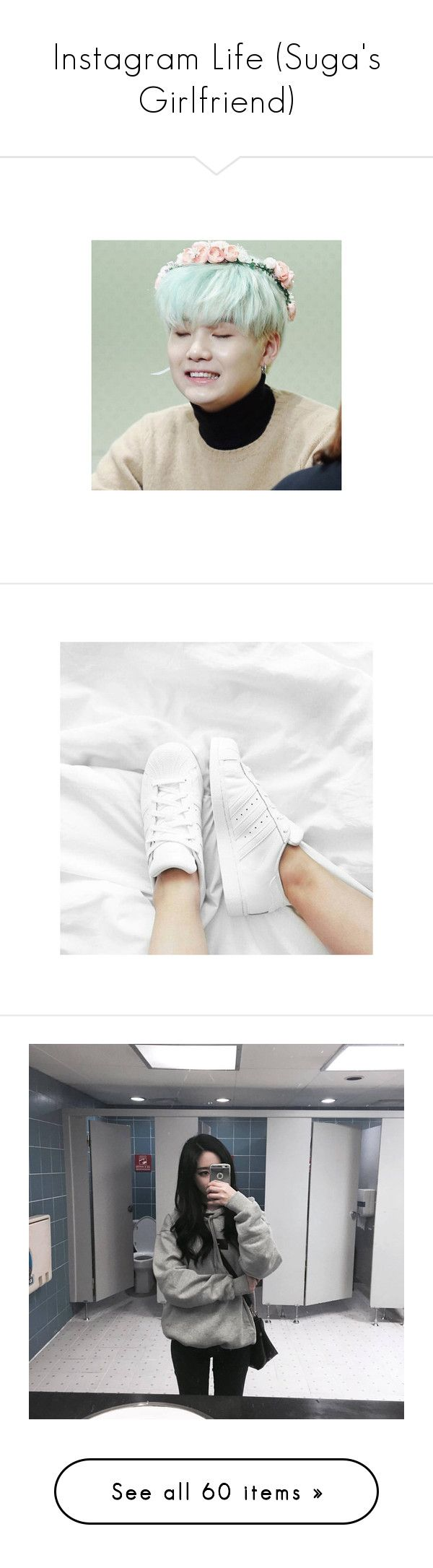 """""""Instagram Life (Suga's Girlfriend)"""" by anninhasanguinetti-435 ❤ liked on Polyvore featuring bts - suga, bts, kpop, pics, pictures, 4u, couples, idols, suga and instagram"""