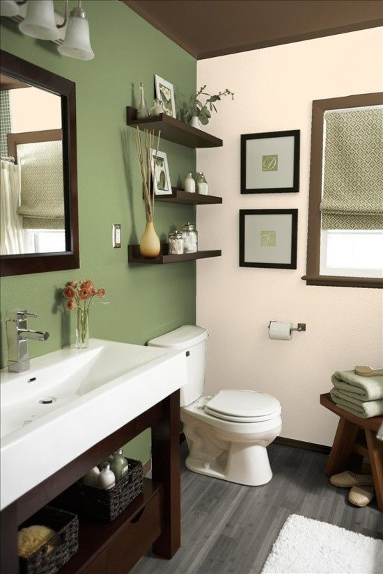 25 best over the toilet images on pinterest home ideas for Beige and brown bathroom design