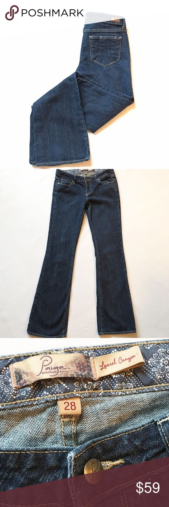 """Paige jeans size 28 Excellent condition! Size 28! 32"""" inseam! Make an offer I always accept or counter! Paige Jeans Jeans Boot Cut"""