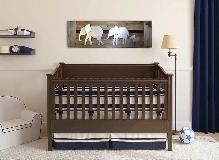 One of a kind wall art for baby nurseries, our parades of elephants and ducks are great for expecting parents, families of one, 2 or more kids.