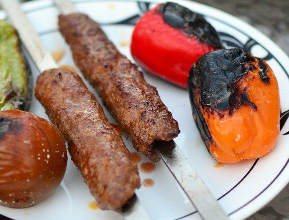 Люля-кебаб из баранины на мангале