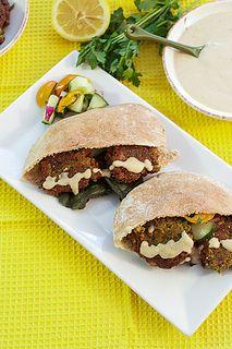 Spinach Falafel with Hatch Chili Mustard Tahini Sauce     Print        Recipe type: Main Dish, Vegetarian   Author: Susan
