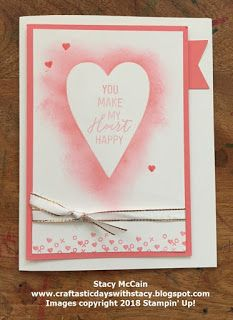 Alternate Ideas - January 2018 Paper Pumpkin Heartfelt Love Notes, Stampin' Up!  Valentine's Day Crafts and Cards