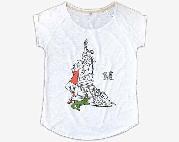T-Shirt Donna Coccodrillo / Statua  Maglietta di NotNegotiable