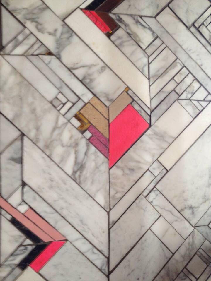 marble art deco floor