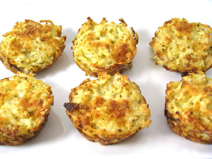 Skinny Hash Brown Muffins. These NEW little potato gems are so amazingly delicious!!! Terrific to serve as a side dish to beef, chicken, pork, fish or even scrambled eggs. Each muffin has 79 calories, 3 grams of fat and 2 Weight Watchers POINTS PLUS. http://www.skinnykitchen.com/recipes/skinny-hash-brown-muffins/