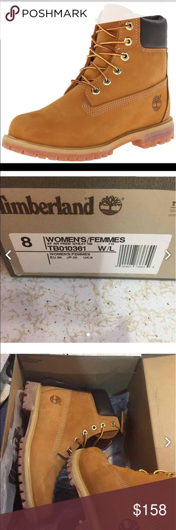 New Premium Timberland boots size 8 Get it in time for XMAS New Premium Wheat Timberland boots size 8.  Retail 169.00 Great for Christmas. Leather upper, lace up booties.  Will not qualify for bundle discount. Timberland Shoes Ankle Boots & Booties