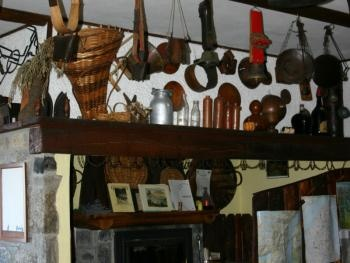 The inside of the restaurant.