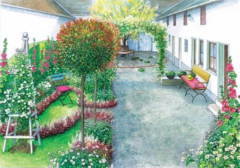 Ein Innenhof Wird Neu Gestaltet Pinterest Innenhof Sitzecke Und