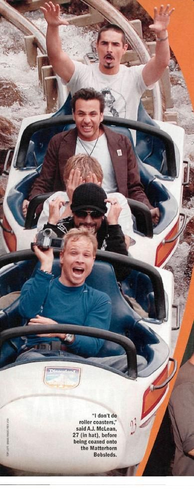 Backstreet Boys on Matterhorn @ Disneyland... One off my fav... AWWW! Look at Nicky!<3:')