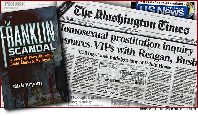 The Franklin Scandal involved a child prostitution ring that had origins at orphanages in Nebraska and reportedly made its way to the Ronald Reagan and George H.W. Bush administrations.