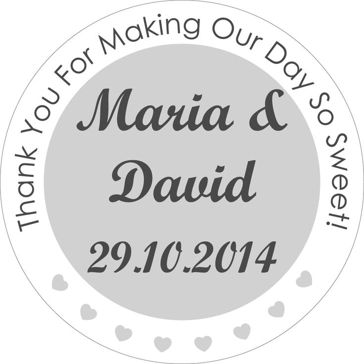 50 x 4cm personalised wedding stickers favours save the date invites 2 message hearts