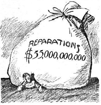 Not everyone thought the Versailles treaty was a good idea: Political cartoon, 1921.