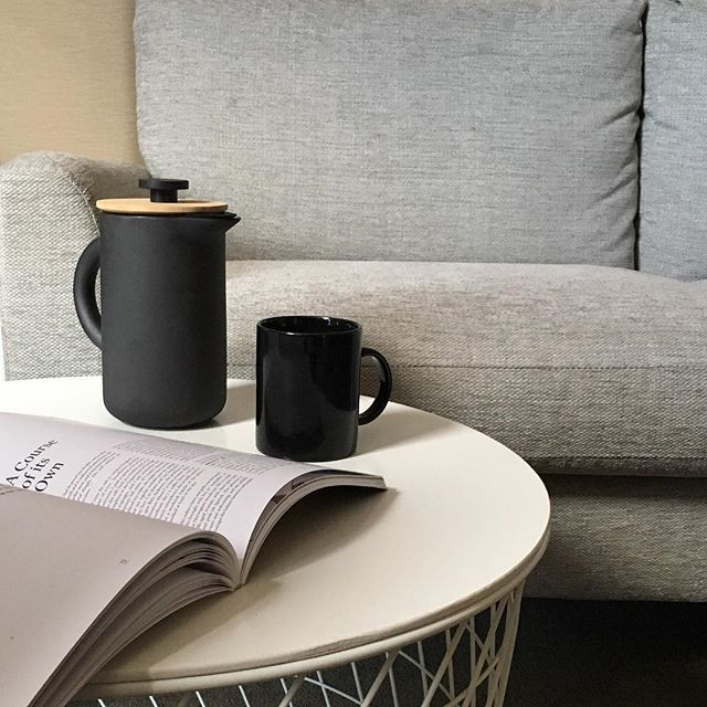 SPOTLIGHT: Stelton Theo French Press . Scandinavian design brand Stelton has been on a mission to enrich everyday life with their unique and innovative range of designer homeware. . This French Press is part of their award winning Theo collection. Made of matte black Scandinavian stoneware with cast-iron finish and smooth Asian bamboo, it looks as good as the coffee tastes ☕️ . More products from the Theo range will be coming to inkoo soon!