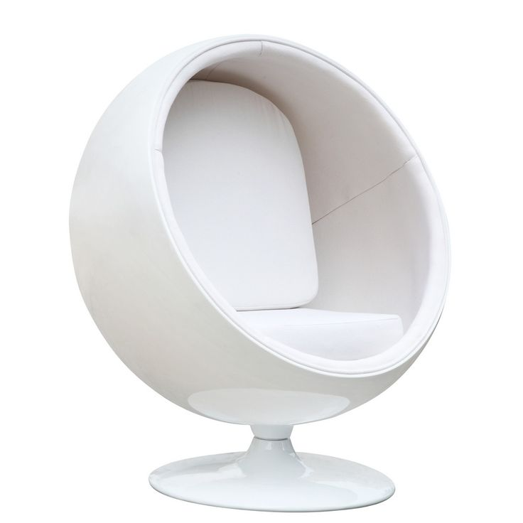 Also known as the Globe Chair, this 1963 design is a classic piece of industrial design. The spherical molded fiberglass shell and matching fiberglass swivel base are an instantly recognisable icons o