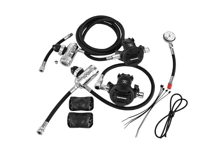 Apeks Sidemount Regulator Kit. Another great set of regs, reliable, easy to breathe at depth and fantastic build quality, plus easy to service Worldwide