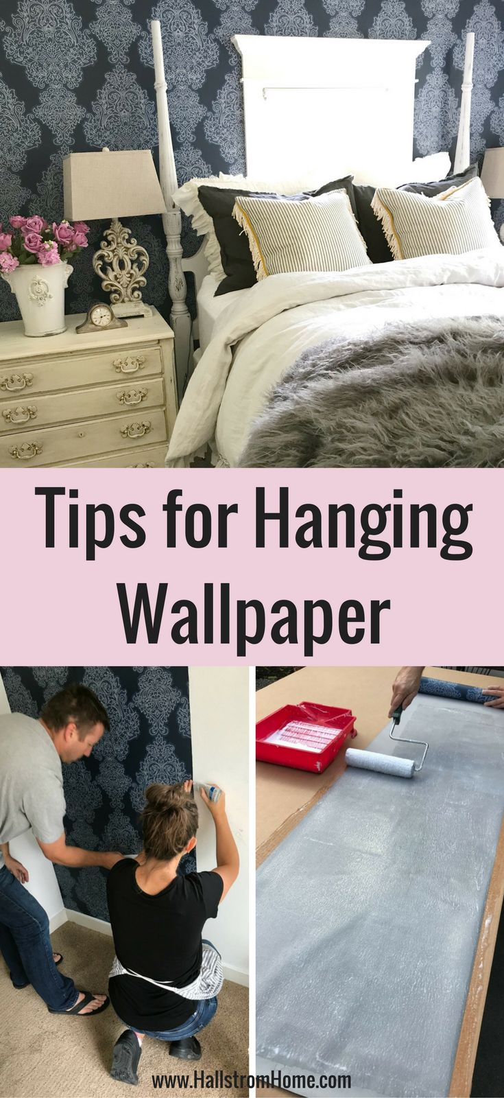 The beginner's REAL guide to hanging wallpaper | DIY ...