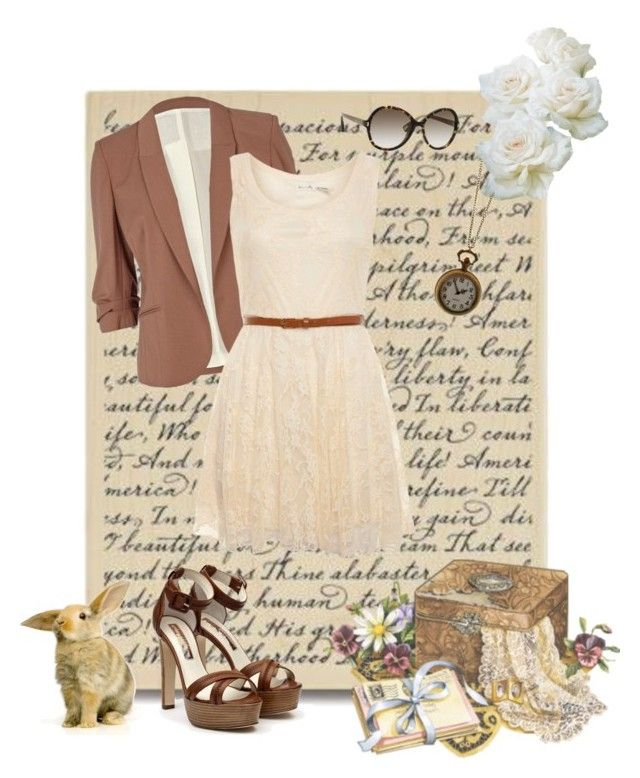 """Complicated Love Letters"" by goddessofvictory ❤ liked on Polyvore featuring Rupert Sanderson, River Island, Love Milly, Rock 'N Rose and Marc Jacobs"