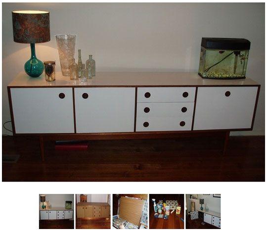 laminaat van vintage kast schilderen