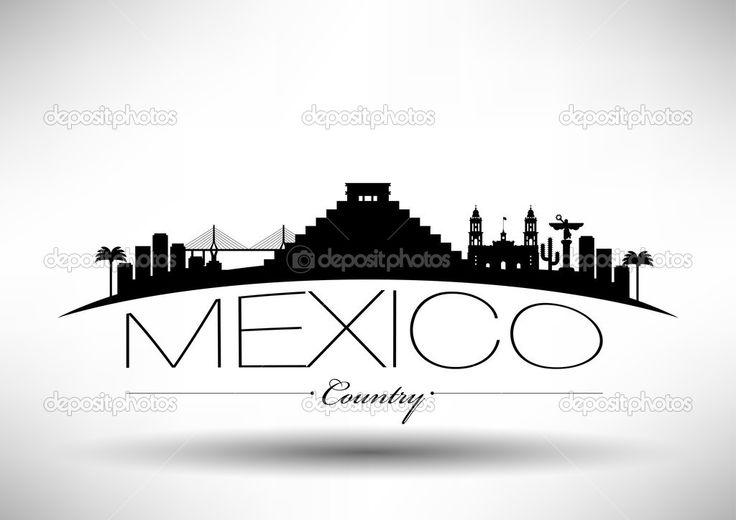 cd mexico skyline silueta - Buscar con Google