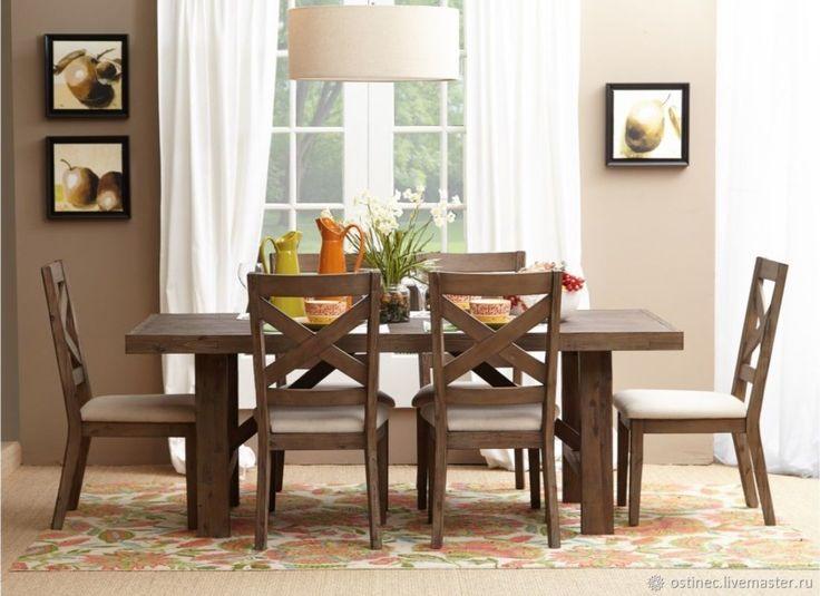 Купить Обеденный стол из массива ясеня или дуба №1 в интернет магазине на Ярмарке Мастеров