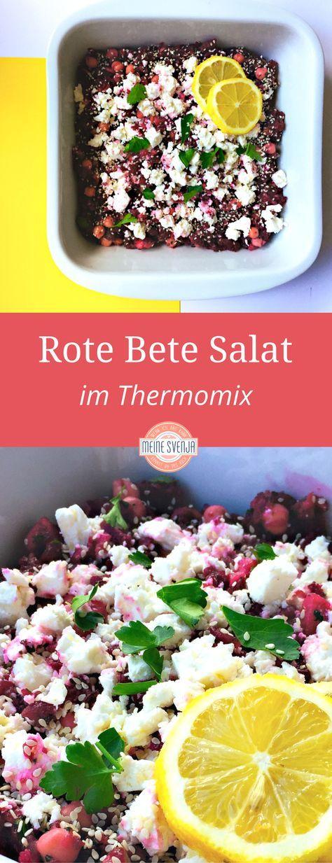 Rote Bete Salat mit Kichererbsen und arabischem Einschlag. Ein schnelles Thermomix-Rezept. Eignet sich auch super als Beilage zum Grillen oder Partysalat.