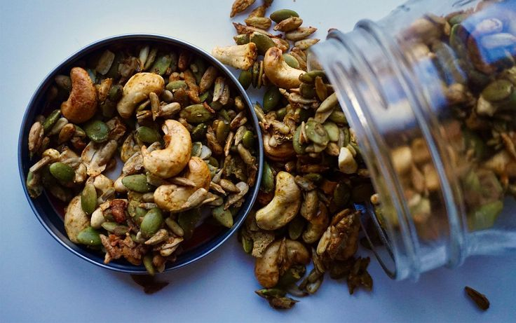 Nuts and seeds are a great for adding flavor and excitement to an ordinary salad, grain bowl or snack. They add some protein and are packed with nutrients.