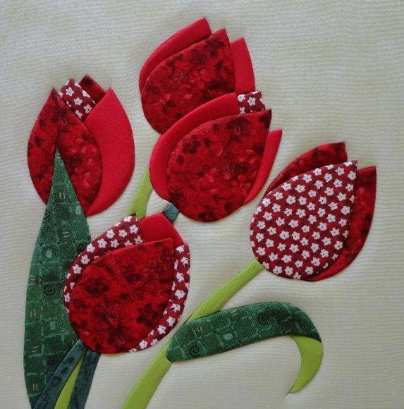 Patch embutido Tulipa 26x26 | A2atelier | Elo7