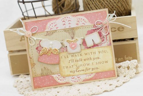 Sweet baby girl card, for my sweet little newborn niece Vera........ I am now the aunt of 5 nieces.