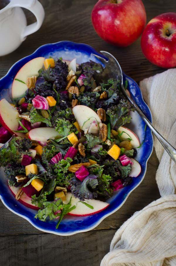 Autumn Salad: Kale, Apples, Butternut Squash, Beets ...