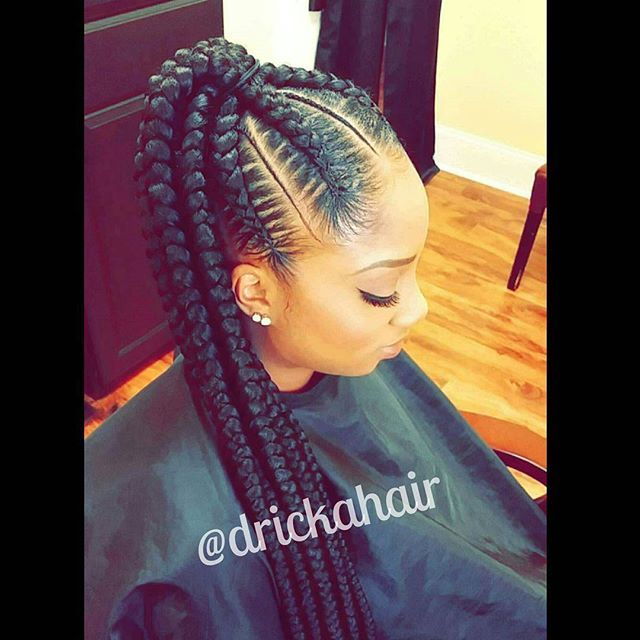 """☆Braided Ponytail☆ Book appointments at www.drickahair.com  SHARE/REPOST & TAG 3 FRIENDS """"I do it ALL! Natural haircare and styles, silk presses, treatments, hair growth, sewins, frontal and closure installs, haircuts, braids, color, quickweaves, bobs, shortstyles, and more.. also offer Virgin Hair, Full Lace Wigs, Frontals, Closures, and Lace Front Wigs!"""" #feedinbraidsatlanta #feedinbraidsatl #braids #atlbraids #atlantabraids #teamnatural #knotlessbraids #protectivestyle #bananabraids…"""