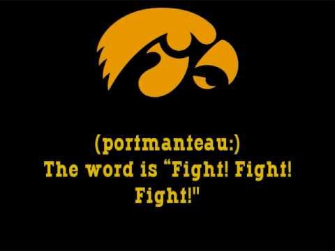 University of Iowa Hawkeyes - fight song with words - Iowa Fight Song
