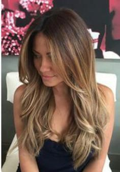Love this light brown color with medium blonde highlights so much! The bottom half is the perfect bronde! - Great long layers too. ~~Pinterest: Lovely...
