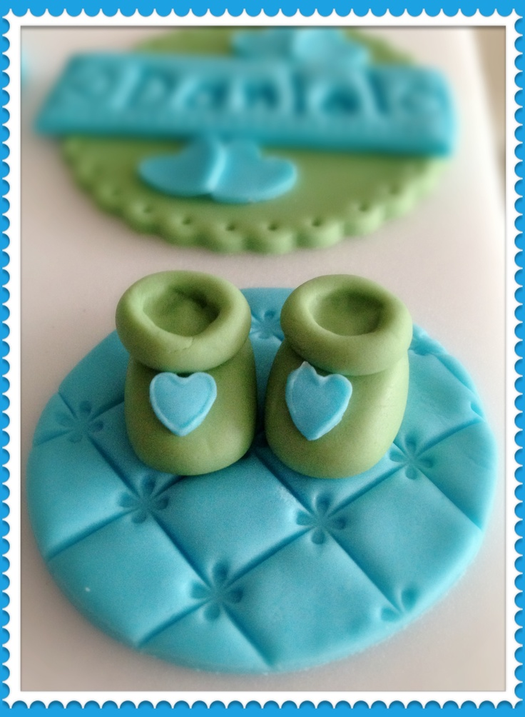 new baby boy cupcake topper ;)