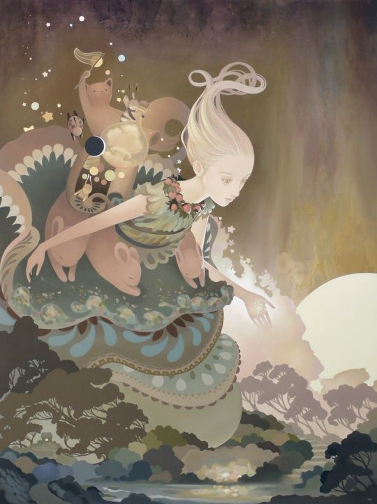 """We were granted special access to preview Amy Sol's dreamy new works that will go on display at Corey Helford Gallery in Culver City, California starting March 10, 2012. Called Numina, the major exhibition will feature ten new acrylic-on-wood panel paintings with Sol's signature soft colors and dreamy settings. """"The characters in each piece are …"""