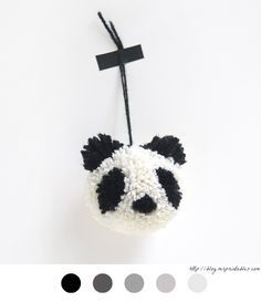 Pompon Panda - animaux en pompons - animaux pompon - how to make pom poms - make…