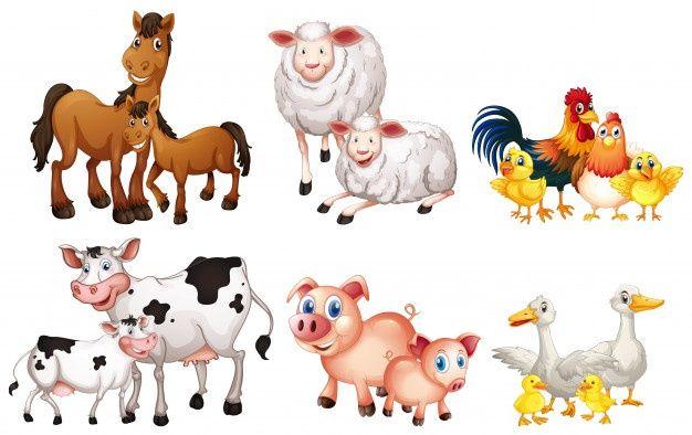 Jogo De Animal Fazenda Animal Clipart Animal Illustration Farm Animals