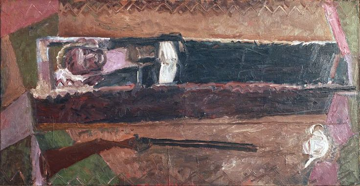 Nikolay Andronov - Self-Portrait in a Coffin. 1966-67