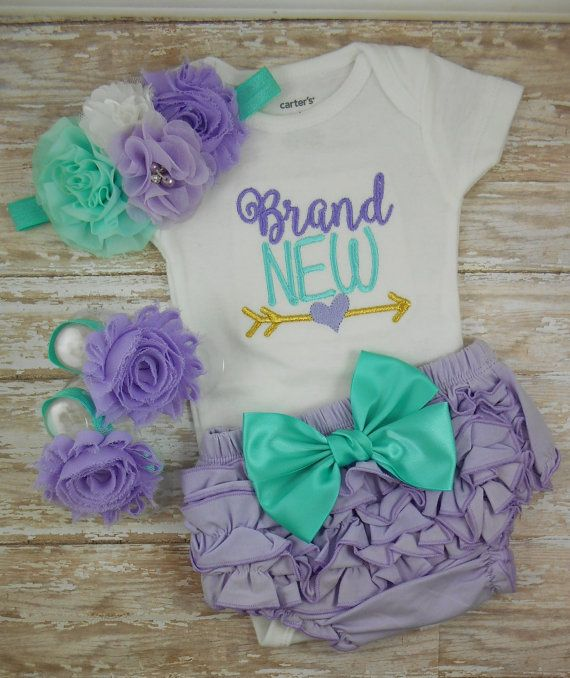 Baby girl coming home outfit Baby girl clothes by LittleQTCouture